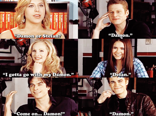 Damon or Stefan? Funny but true..